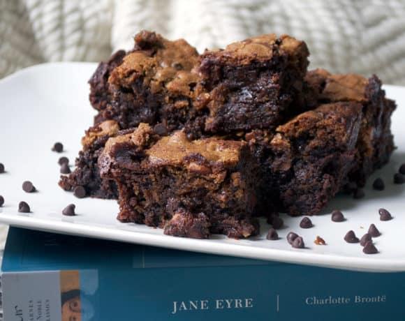 Chocolate Almond Brownie Cookie Bars