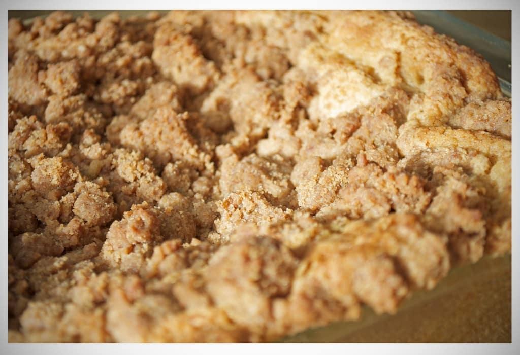 Buttery Brown Sugar New York Crumb Topping | OfBatterAndDough.com