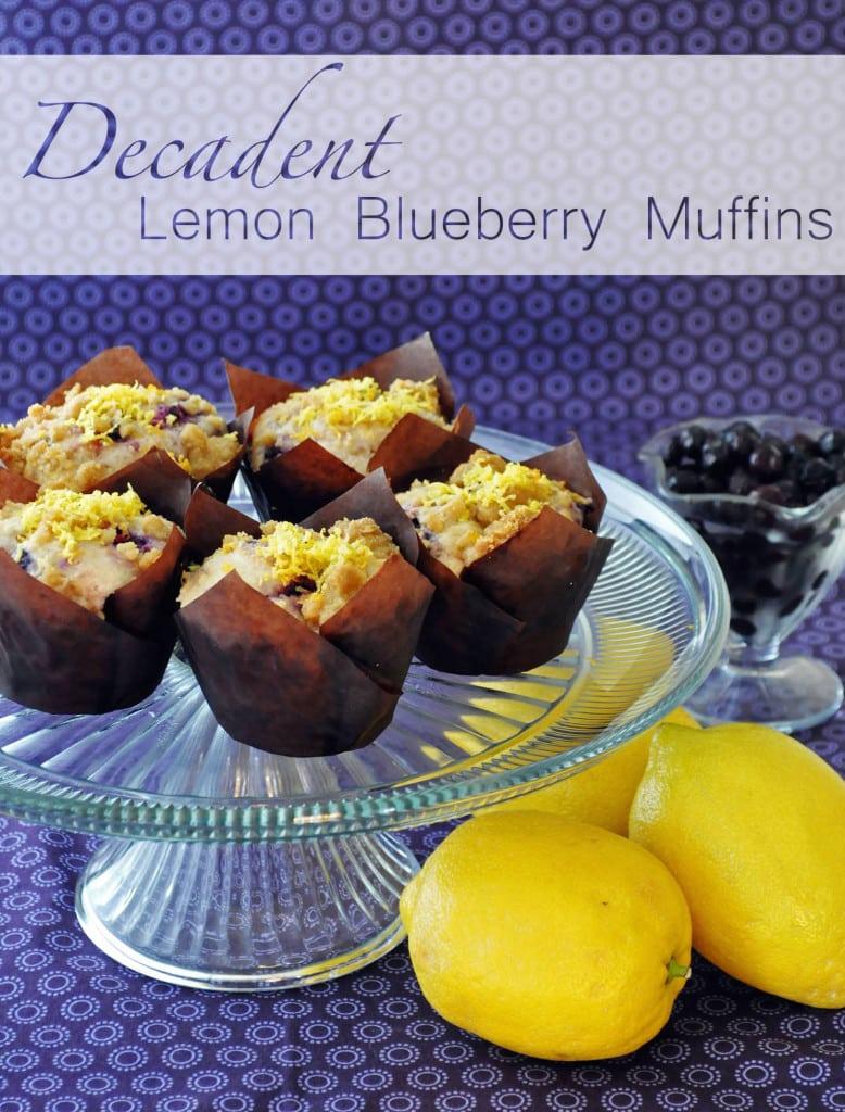 Decadent Lemon Blueberry Muffins | Of Batter & Dough