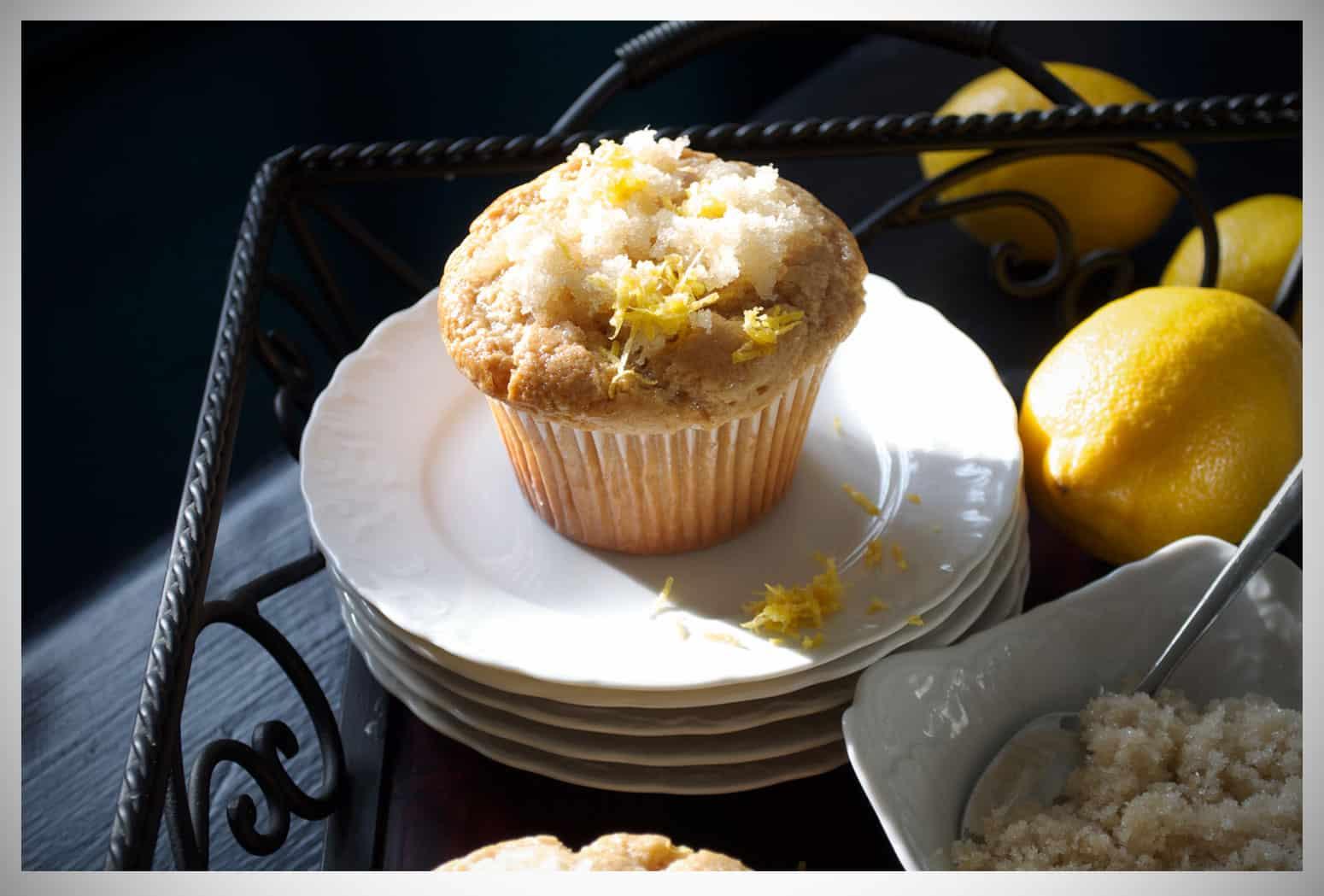 Lemon Ginger Muffins - Of Batter & Dough