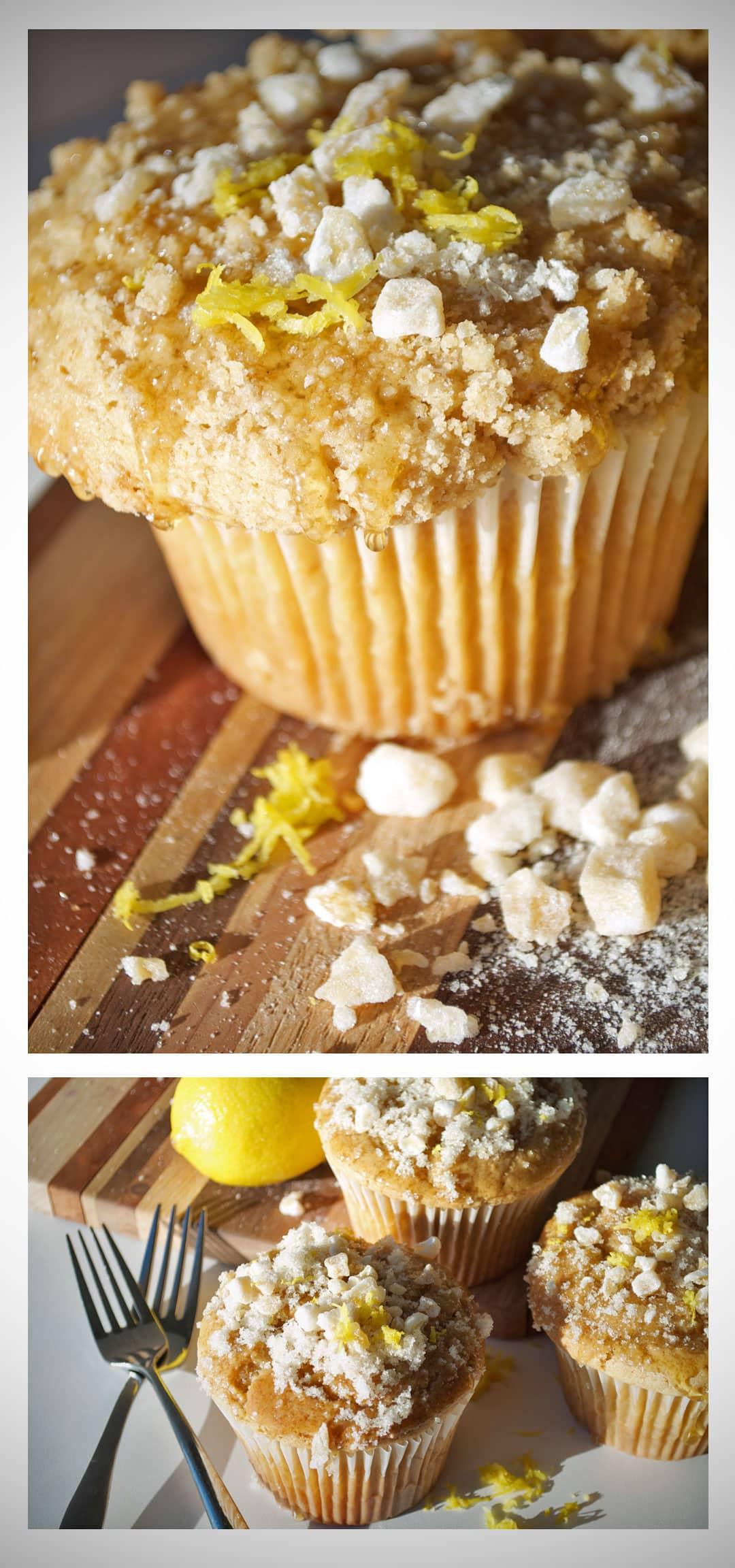 Lemon Ginger Muffins | OfBatterAndDough.com