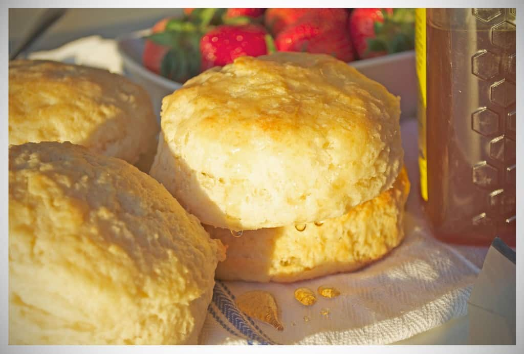 Buttery Tender Baking Powder Biscuits | OfBatterAndDough.com