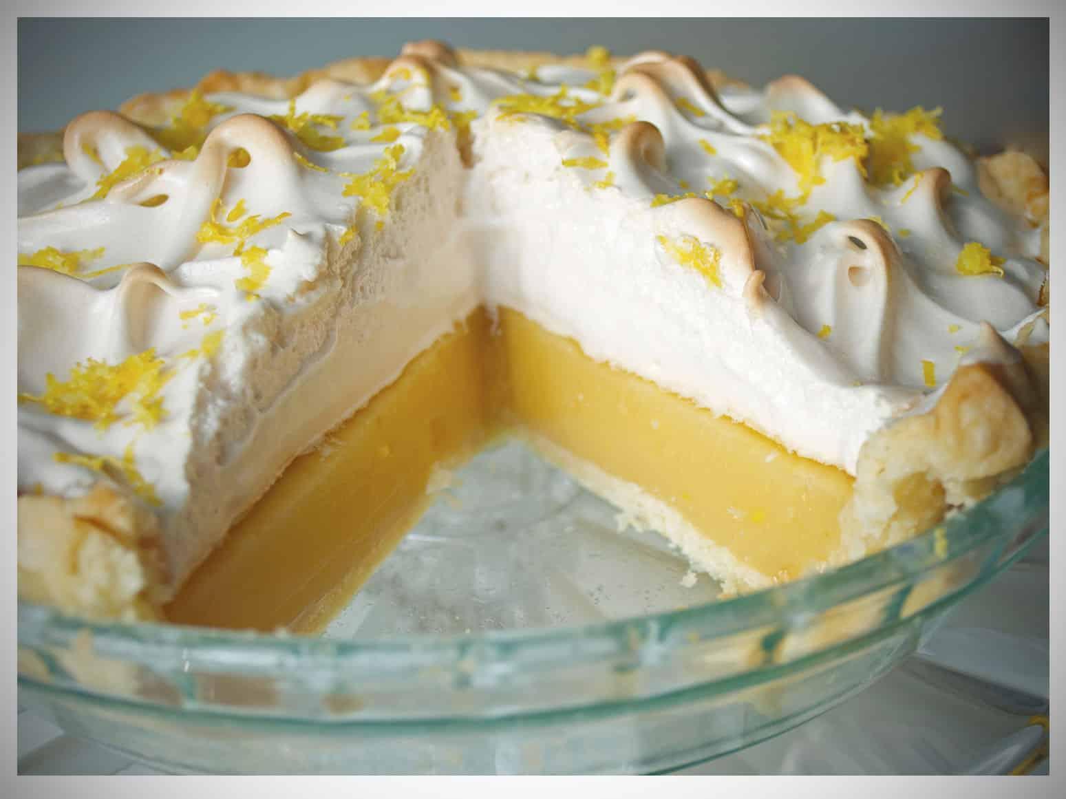 Lavender Infused Lemon Meringue Pie | OfBatterAndDough.com