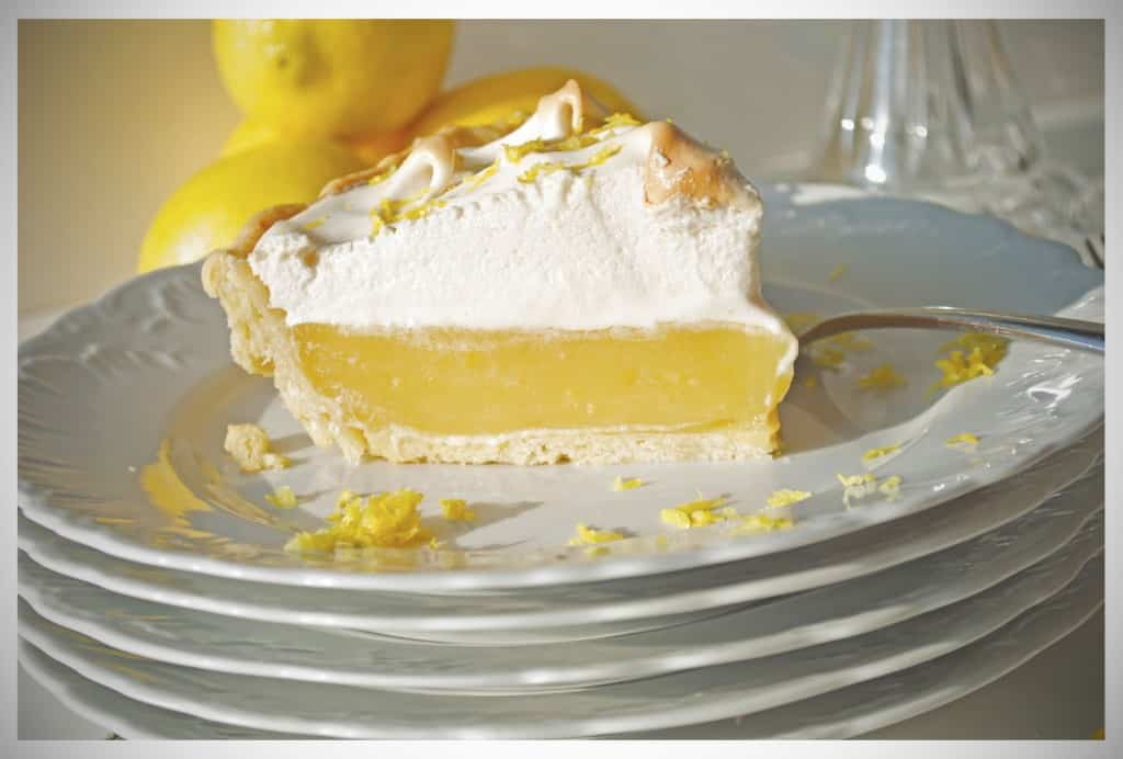 Lavender Infused Lemon Meringue Pie | OfBatterAndDough.com