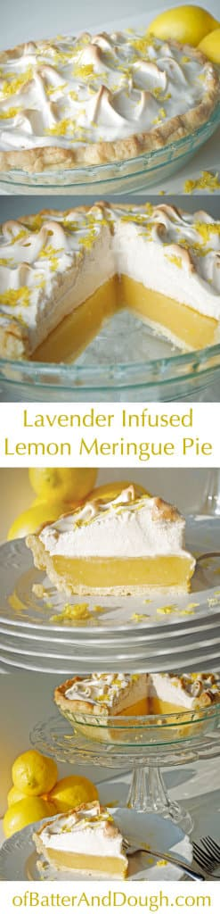 Lavender Infused Lemon Meringue Pie