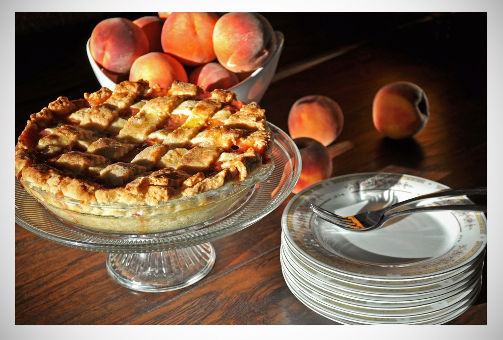Fresh Peach & Raspberry Pie   OfBatterAndDough.com