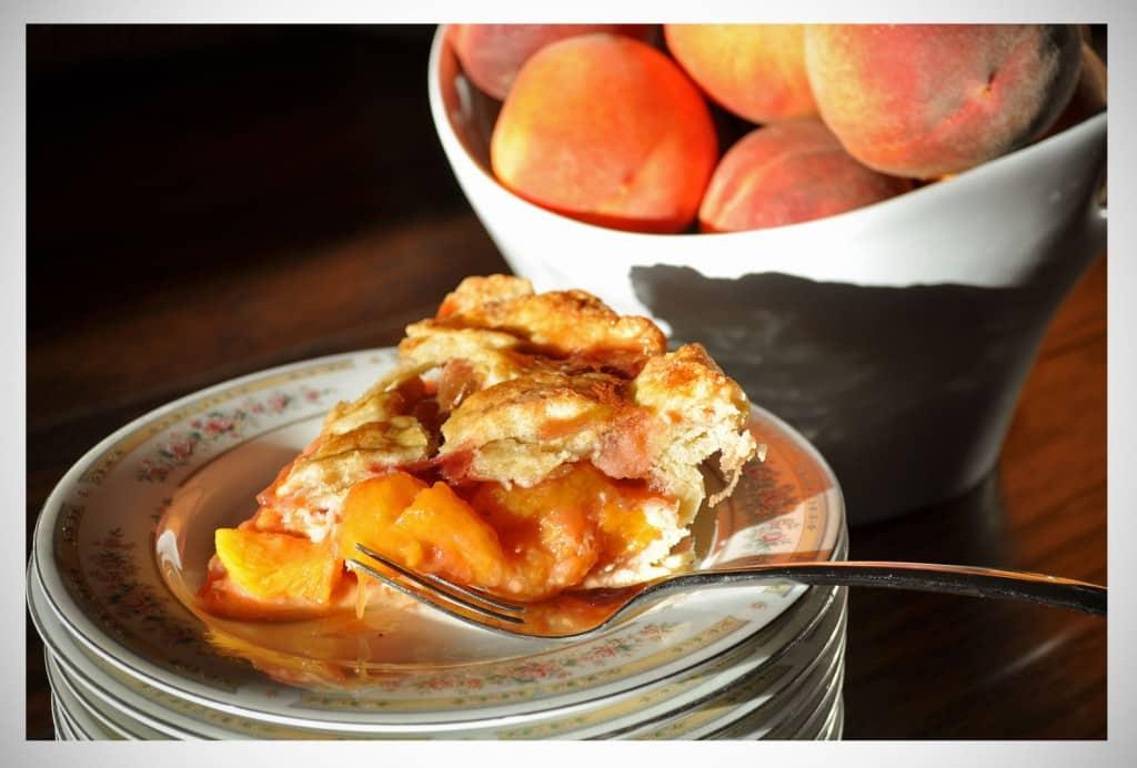 Fresh Peach and Raspberry Pie   OfBatterAndDough.com