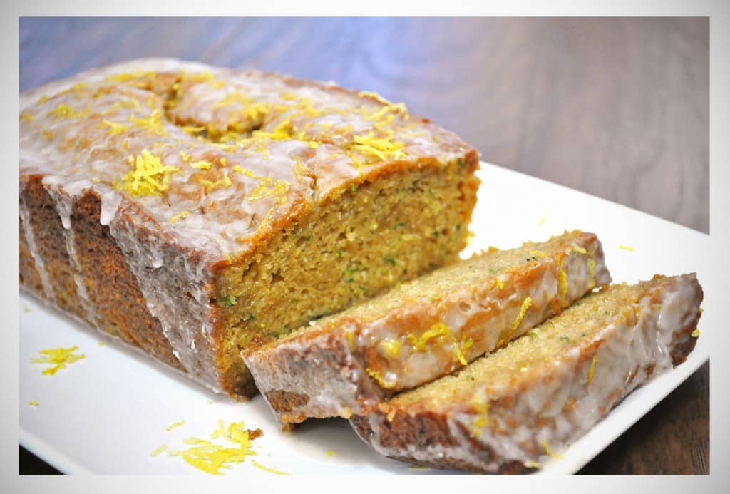 Lemon Ginger Zucchini Bread | OfBatterAndDough.com
