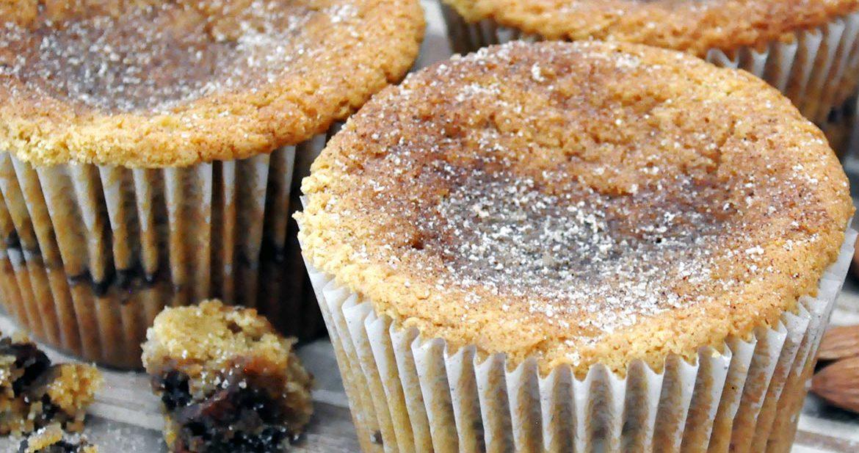 Sour Cream Coffee Cake Muffins | ofbatteranddough.com