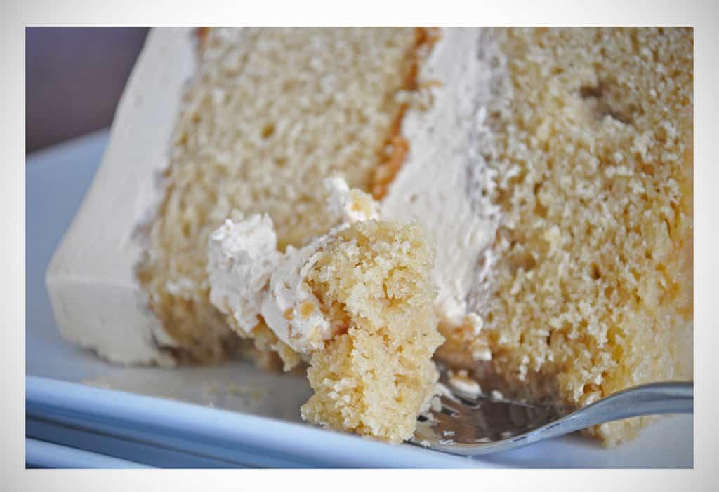Caramel-Cake-Salted Caramel Italian Meringue Buttercream