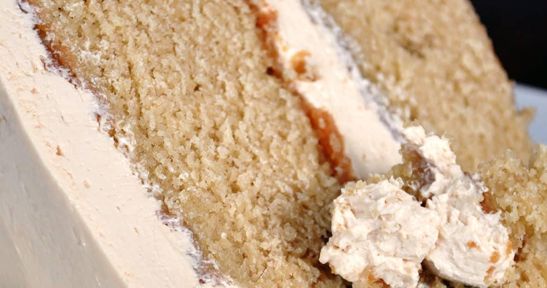 caramel cake with salted caramel Italian meringue buttercream