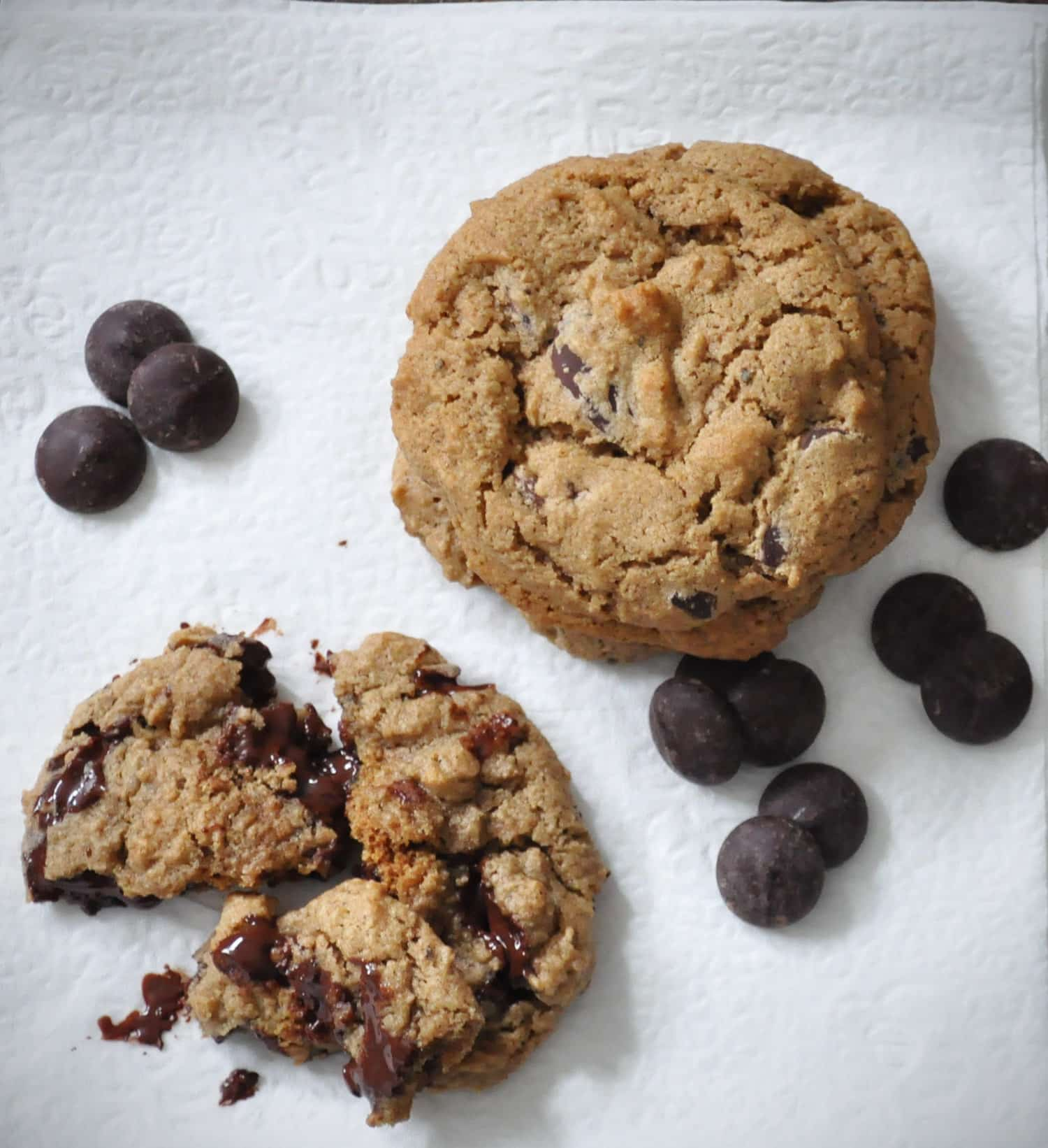 Gluten Free Ginger Chocolate Chip Cookies..
