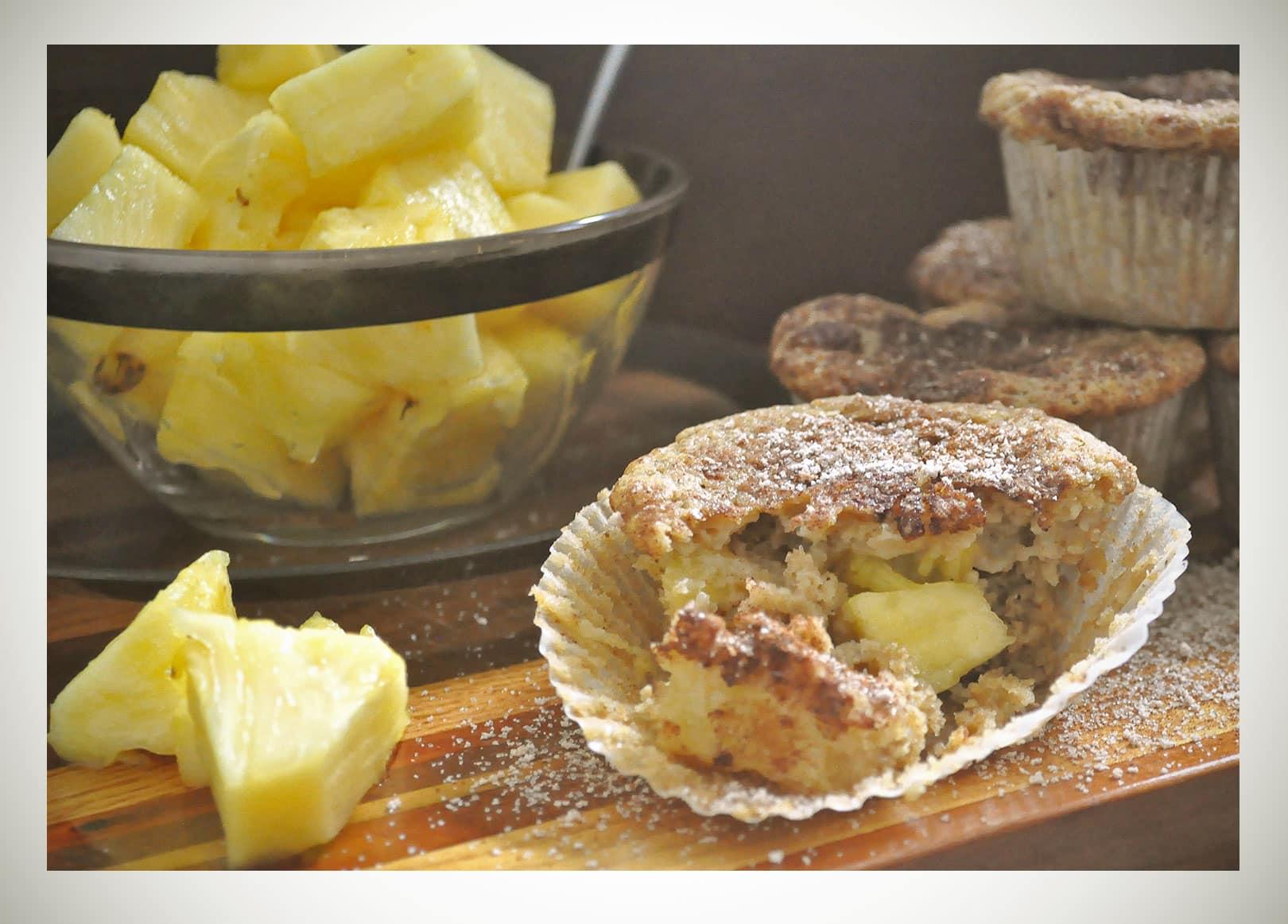 Healthy, Gluten Free Pineapple Muffins • Muffins