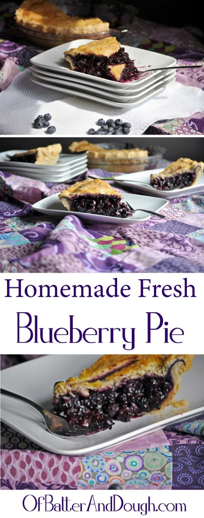 Homemade Fresh Blueberry pie