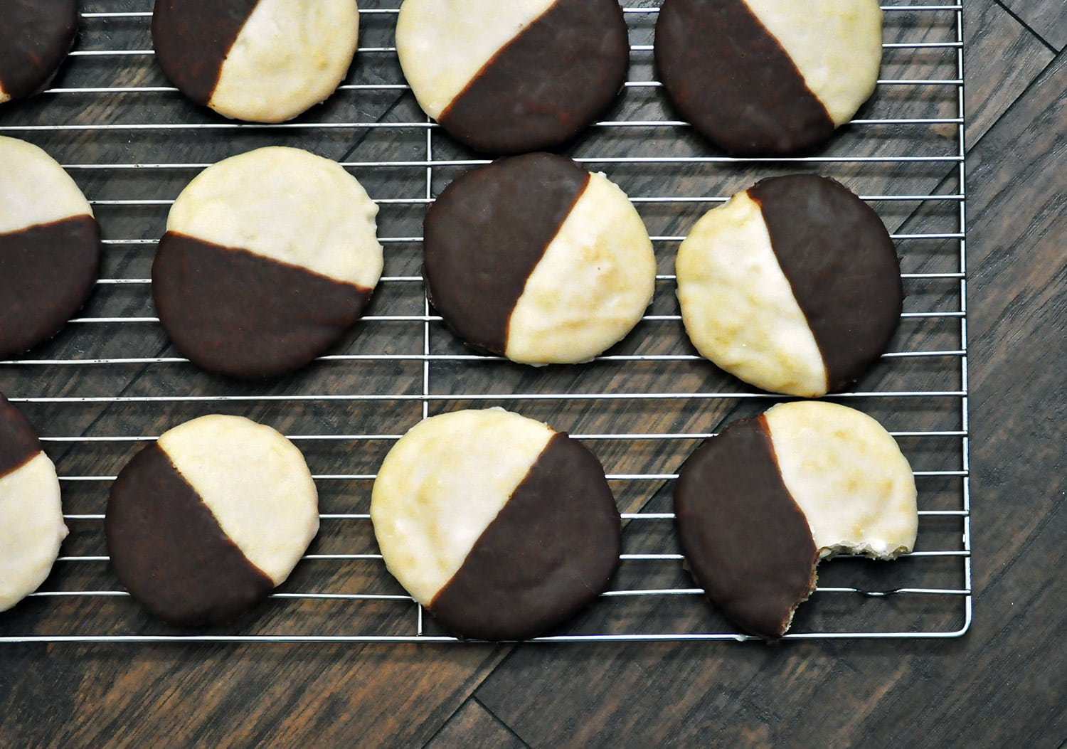 Black and White Cookies • Cookies | OfBatter&Dough