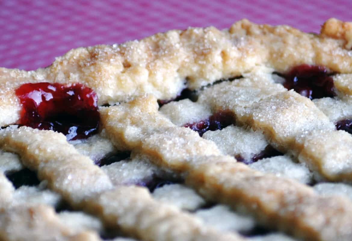 fresh cherry pie recipe | ofbatteranddough.com