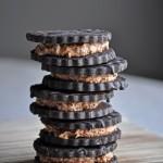 Hazelnut Mocha Coffee and Cream Sandwich Cookies | ofbatteranddough.com