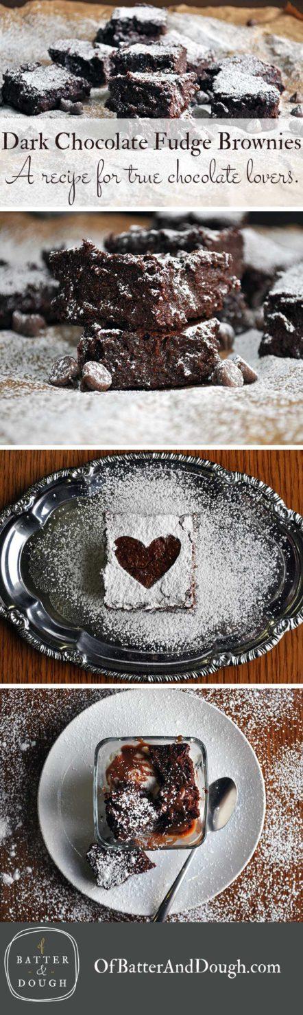 Brownies dark chocolate fudge brownies