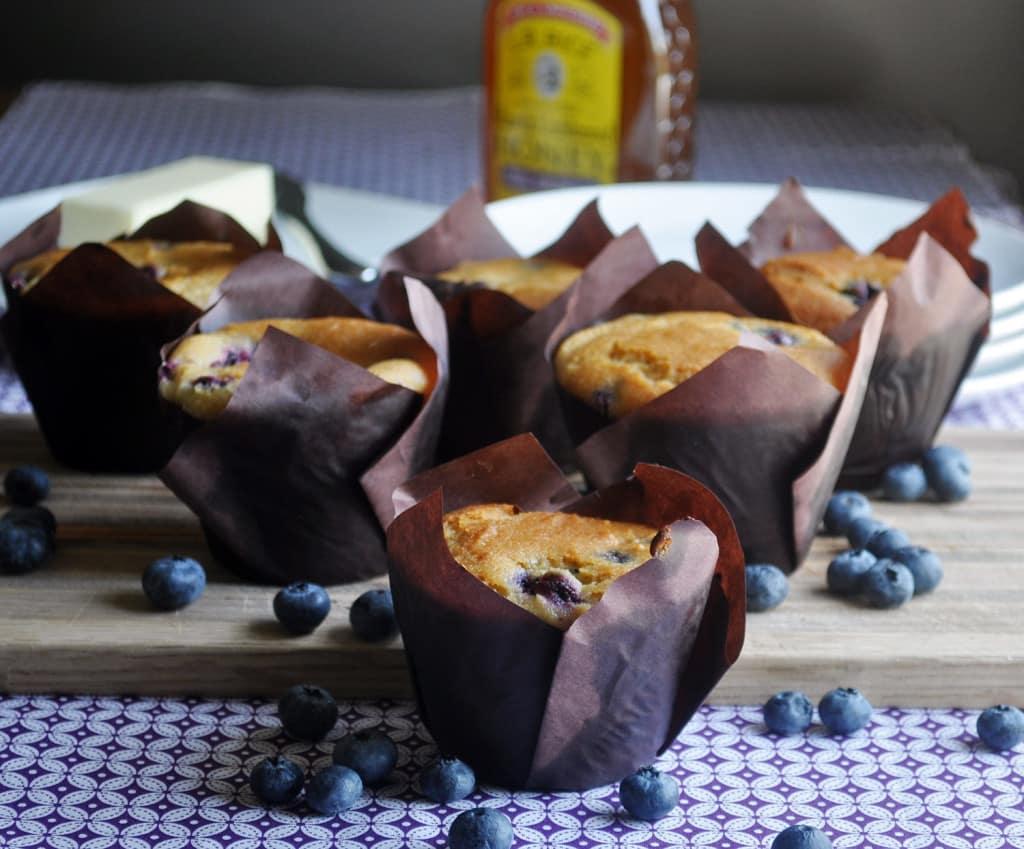 Sweet Blueberry Corn Muffins Recipe — Dishmaps