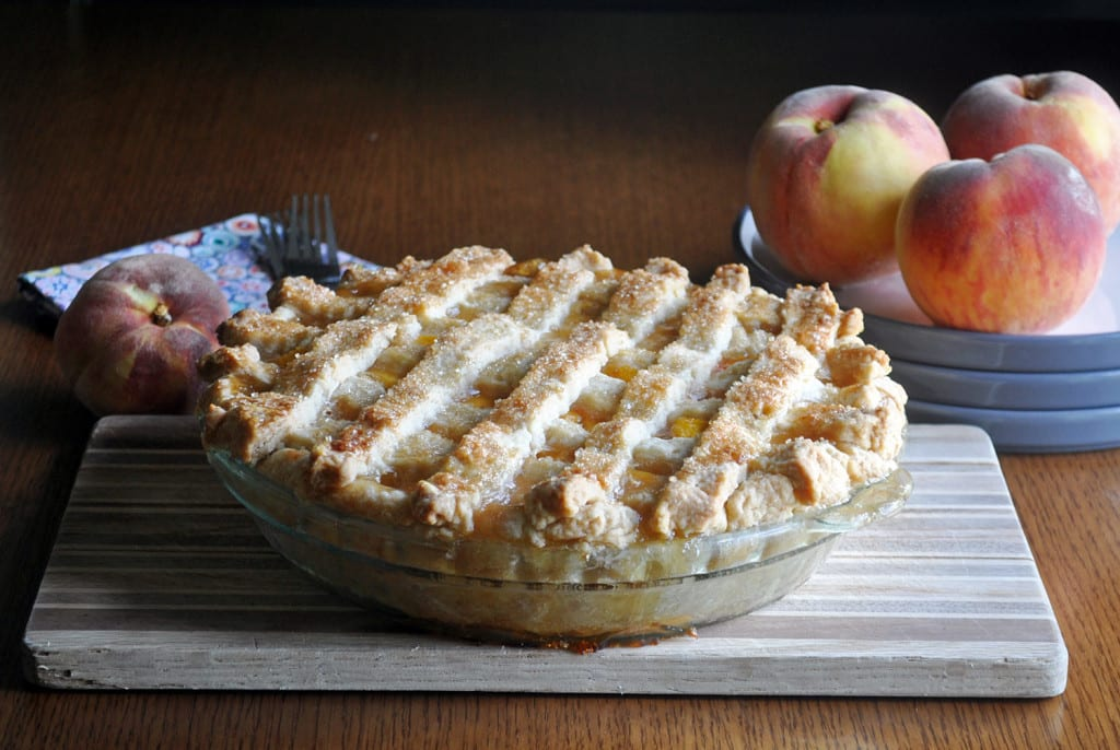 Canned peach pie filling with cornstarch for Peach pie recipe with canned peaches