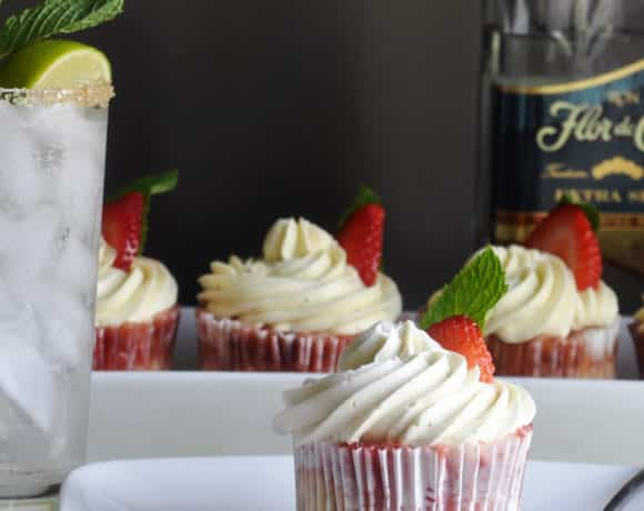 Strawberry Mojito Cupcakes