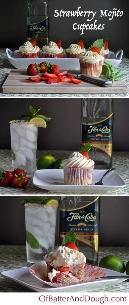 Strawberry mojito cupcakes