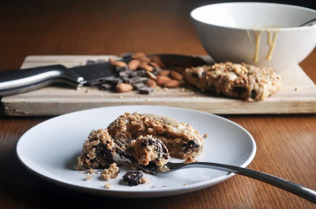 Vanilla Glazed Chocolate Almond Scones