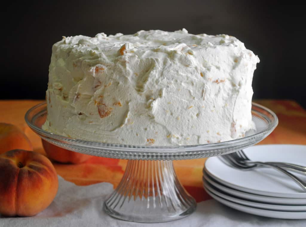 Angel Food Cake Recipe With Peaches And Cream Batter And