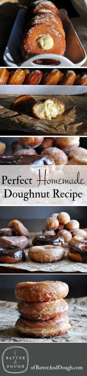 Homemade doughnut recipe | ofbatteranddough.com