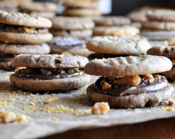 Peanut Butter Nutella Cookies | Peanut Butter Nutella Cookie Sandwiches