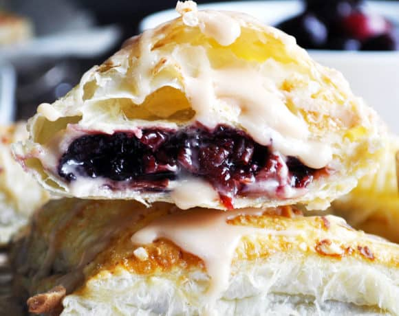 Cherry Turnovers with Cream Cheese and Almonds