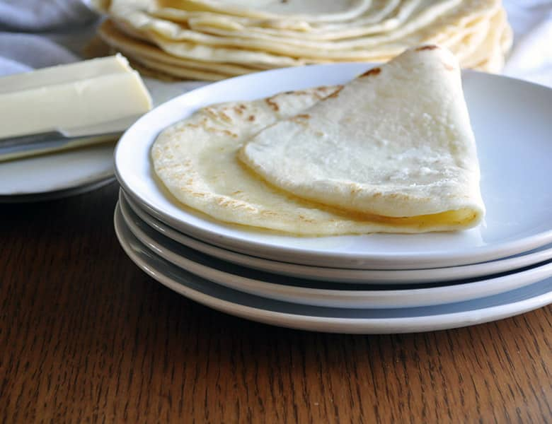 homemade tortillas | soft flour tortillas recipe | ofbatteranddough.com