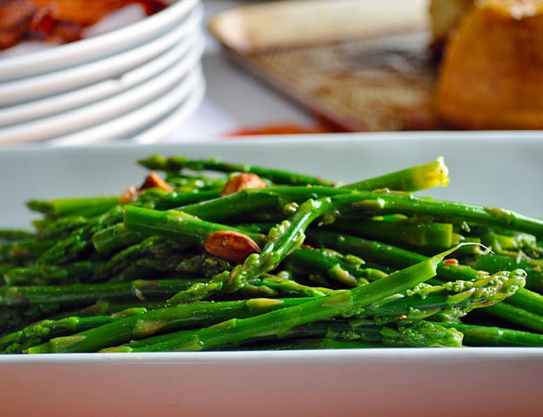 Asparagus Salad | Mother's Day Brunch Menu | Mother's Day Brunch Recipes | ofbatteranddough.com