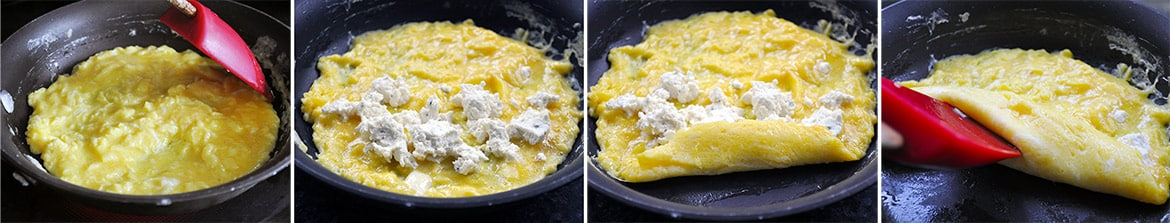 Cheese Omelets | Mother's Day Brunch Menu | Mother's Day Brunch Recipes | ofbatteranddough.com