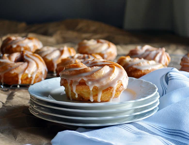French Cruller Doughnut Recipe | ofbatteranddough.com