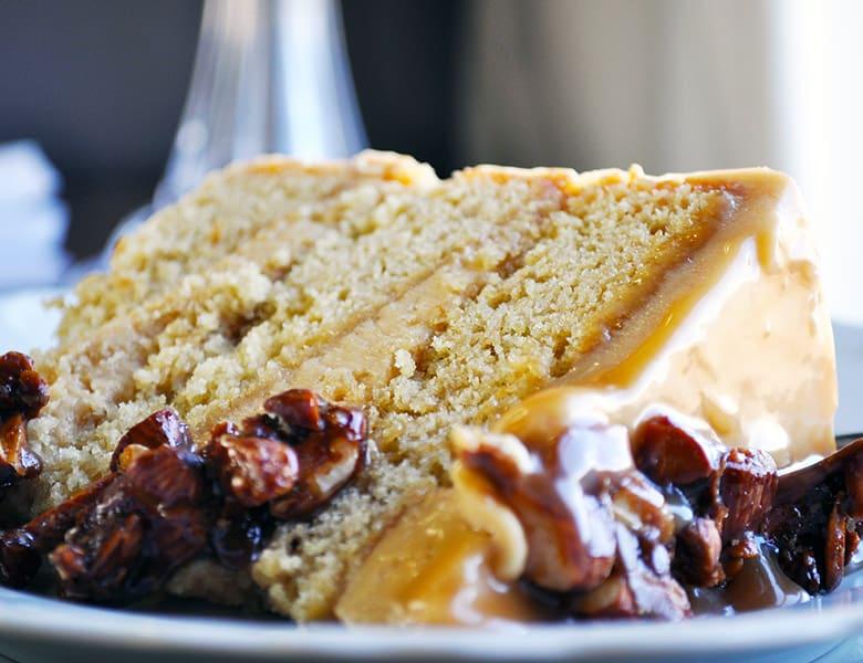 Caramel Cake with Salted Caramel Italian Meringue • Cakes
