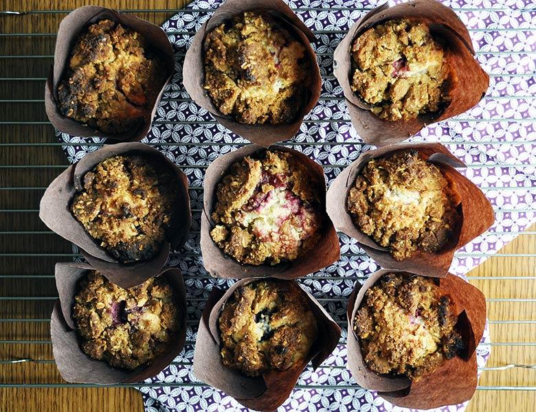 Mixed Berry Muffin Recipe | ofbatteranddough.com