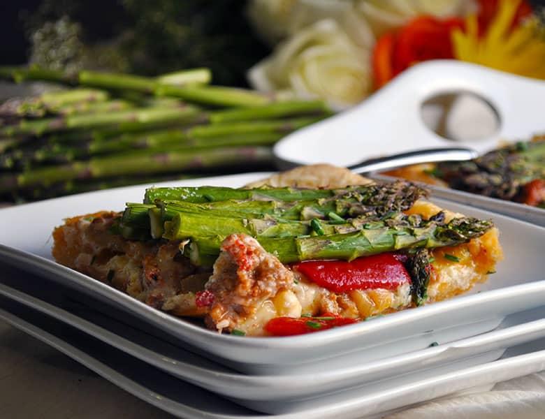 Savory Tart Recipe with Sausage and Vegetables   ofbatteranddough.com