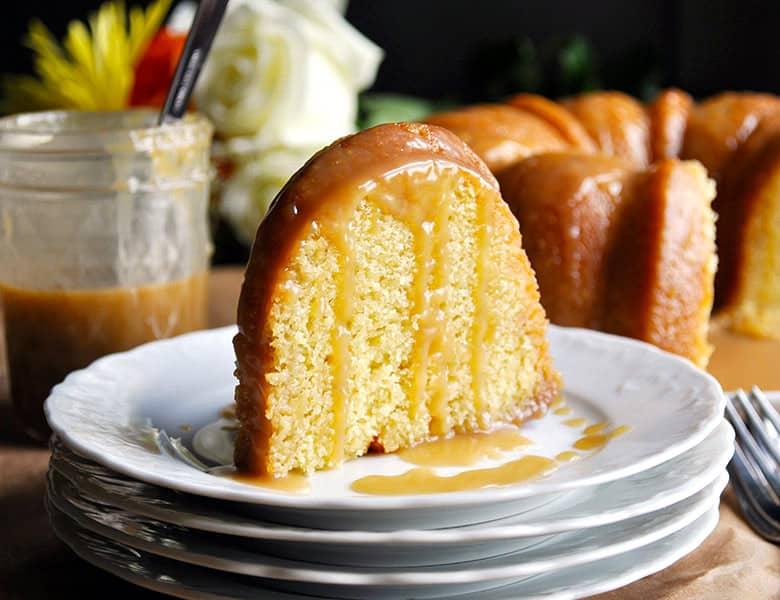 Butterscotch bundt cake recipe | ofbatteranddough.com