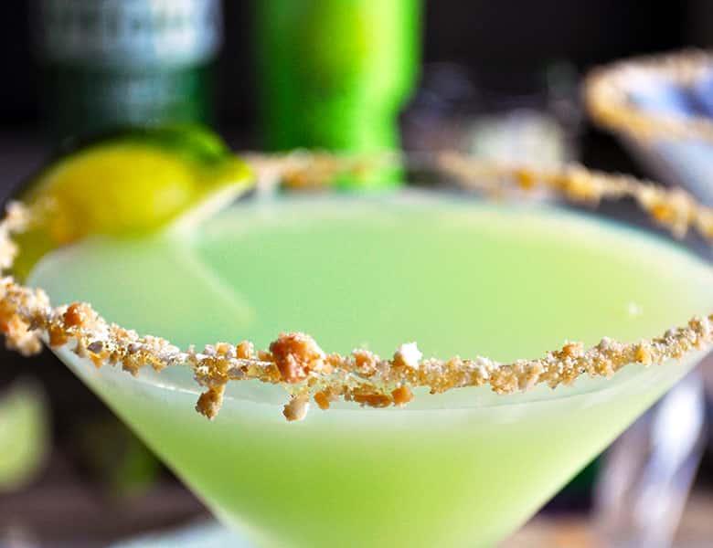 Key Lime Cucumber Martini | toffeetini | Martini Party | ofbatteranddough.com