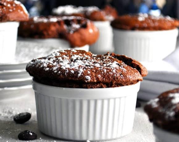 Chocolate Soufflé with Crème Anglaise