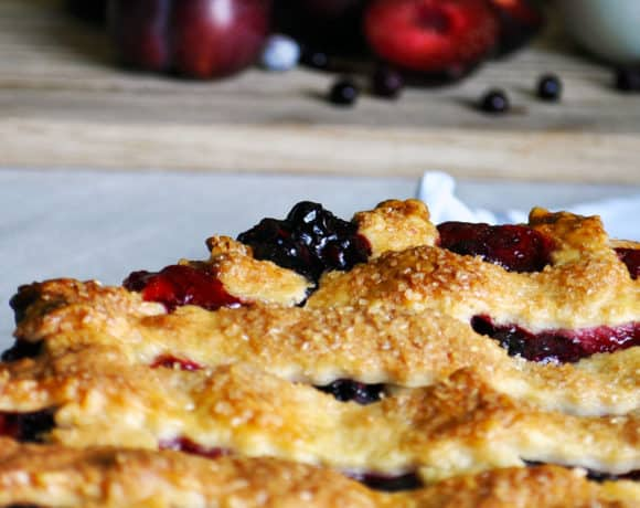 Triple Berry Plum Pie Recipe