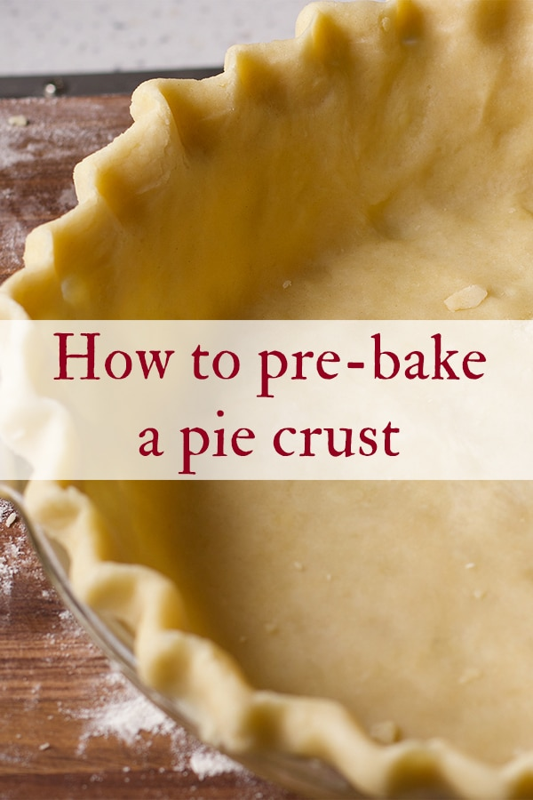 How to pre-bake a pie crust