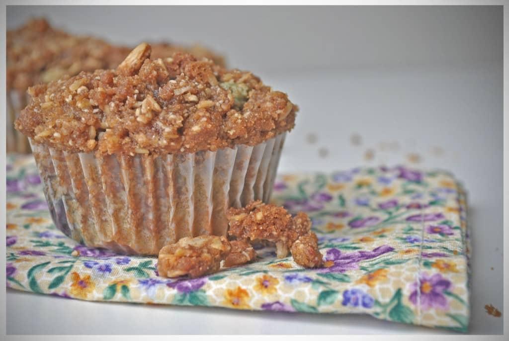 Gluten Free Blueberry Streusel Muffins | OfBatterAndDough.com
