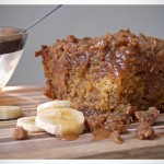 Banana Crumb Cake with Caramel Rum Sauce recipe