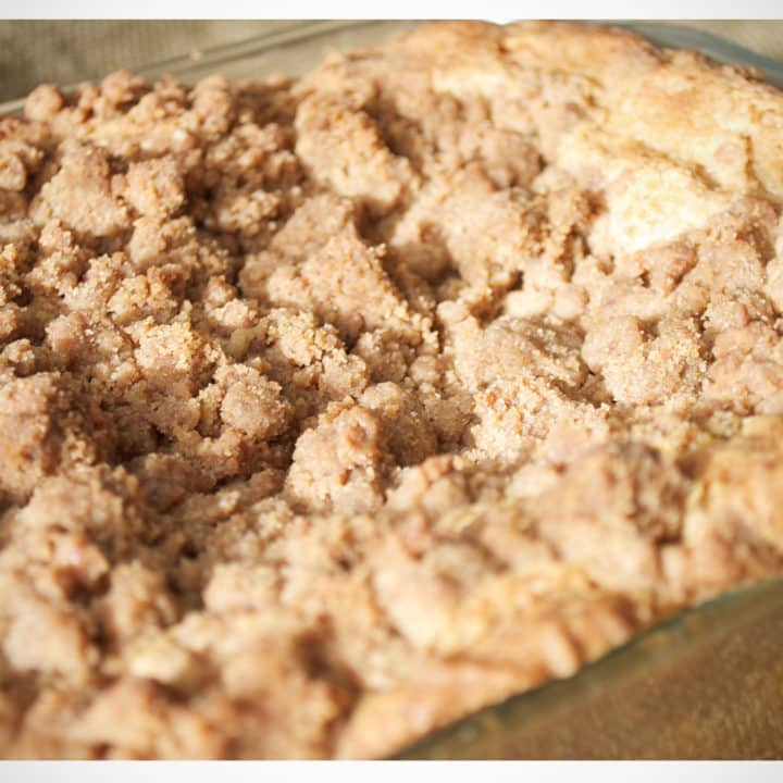 Buttery Brown Sugar New York Crumb Topping recipe | OfBatterAndDough.com