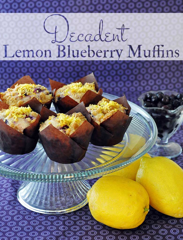 Lemon Blueberry Muffins | ofbatteranddough.com