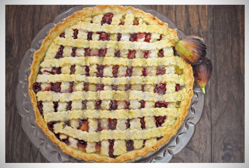 Thanksgiving Pies | Raspberry Fig Tart With A Lemon Almond Cookie Crust recipe