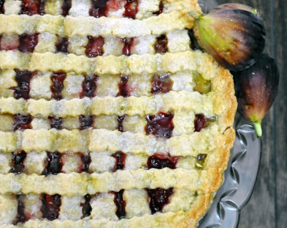 Raspberry Fig Tart With A Cookie Crust