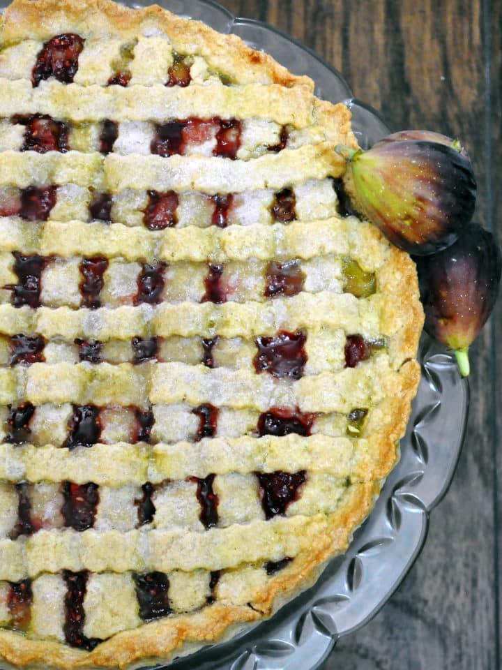 Raspberry Fig Tart | ofbatteranddough.com
